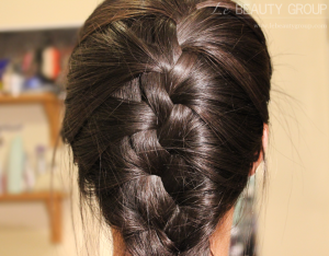 Hairstyle: Messy French Plait / Braid on Layered Hair