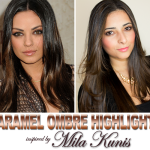 My New Hair - Mila Kunis Caramel Ombre Highlights 1