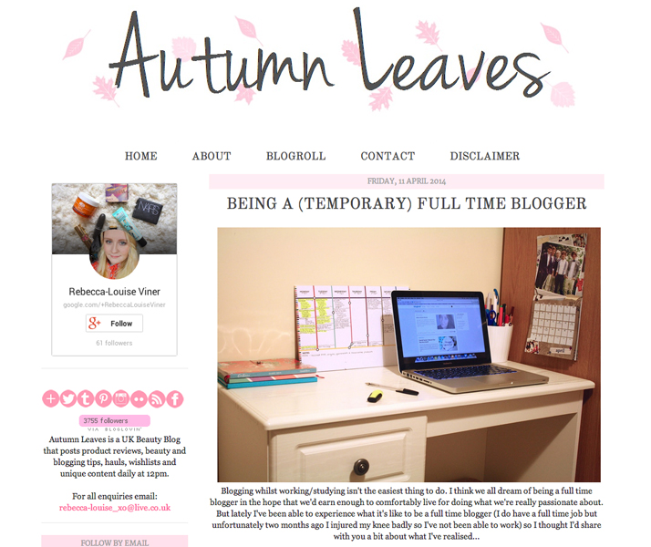 Top 10 Blogs Beauty, Fashion & Lifestyle Autumn Leaves