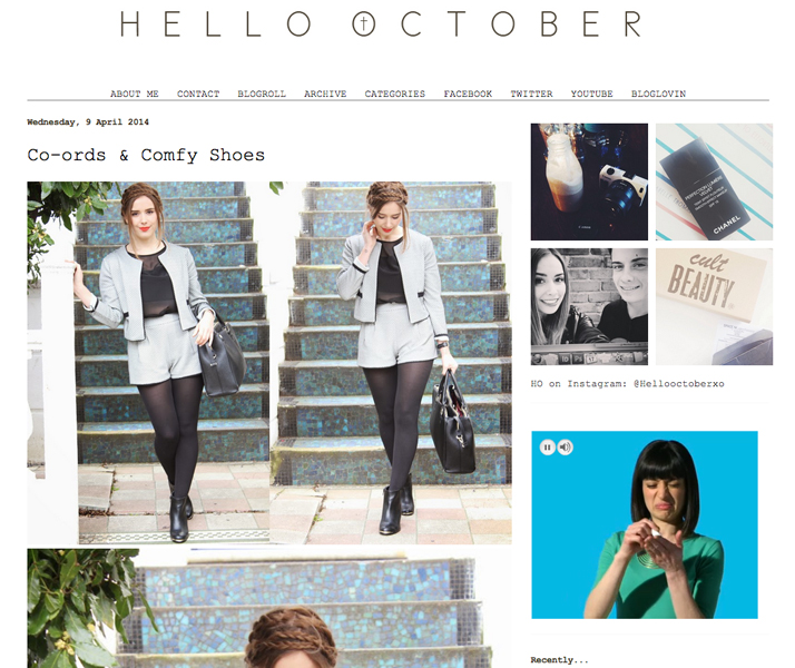 Top 10 Blogs Beauty, Fashion & Lifestyle Hello October