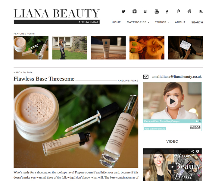 Top 10 Blogs Beauty, Fashion & Lifestyle Liana Beauty