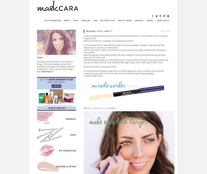 Top 10 Blogs Beauty, Fashion & Lifestyle Maskcara