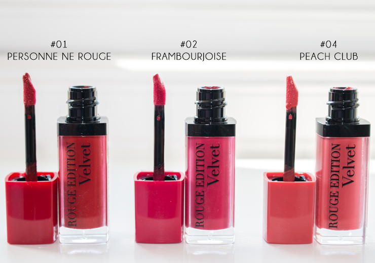 Bourjois Rouge Edition Velvet Lipstick Review Lip Swatches
