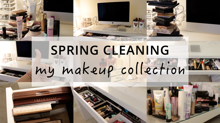 Makeup Organisation Ideas Spring Cleaning My Makeup Collection How To Organise Ikea Malm Dressing Table