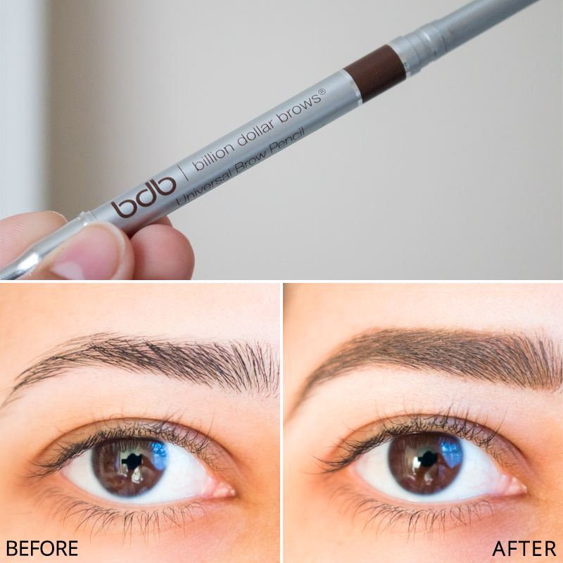 Billion Dollar Brows Universal Brow Pencil Review Before and After