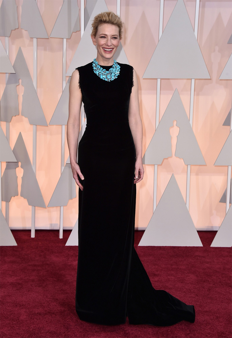 Cate Blanchett Oscars Red Carpet 2015