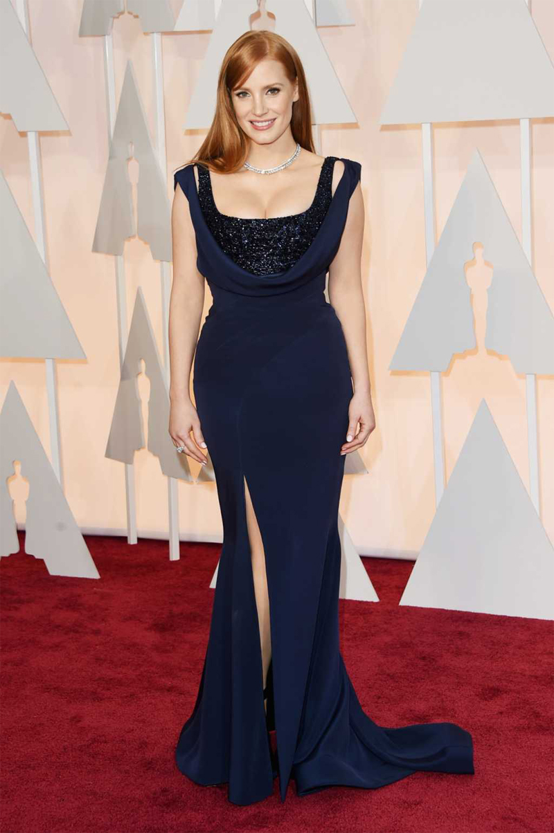 Jessica Chastain Oscars Red Carpet 2015