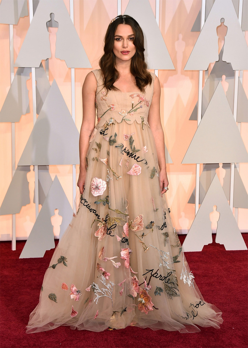 Keira Knightley Oscars Red Carpet 2015