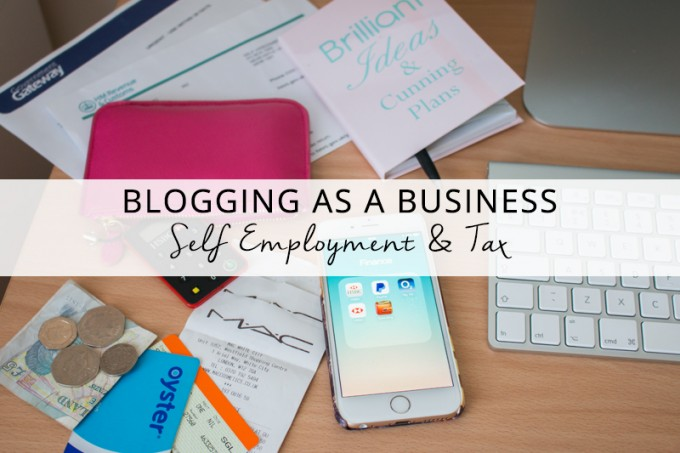 Blogging as a Business Set Up for Self Employment and Tax